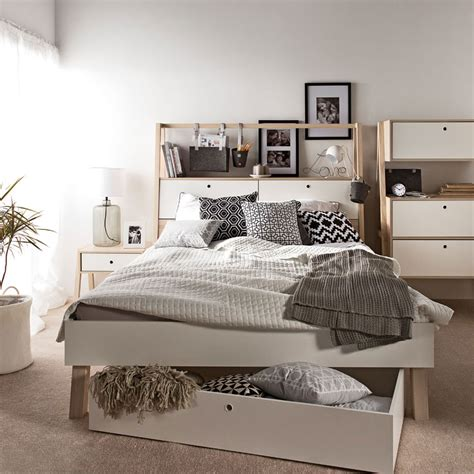 Spot Double Bed With Storage Headboard Vox Furniture