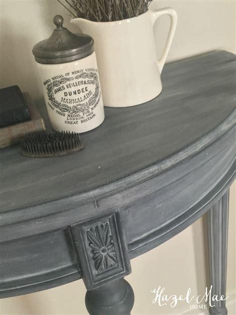 annie sloan paris grey wash  graphite  accent table
