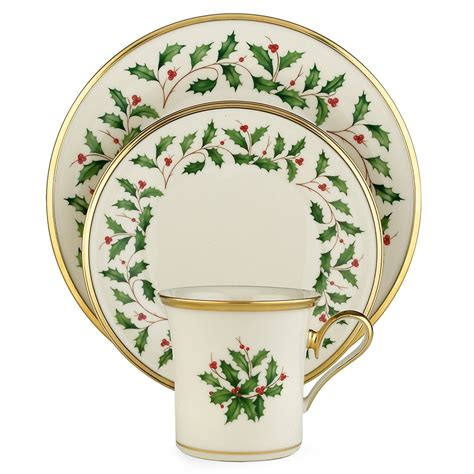 dinnerware christmas china holiday lenox sets piece setting service holly place dishes tableware bone rated decor settings collection formal sandra