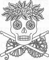 Crochet Dead Own Sugar sketch template