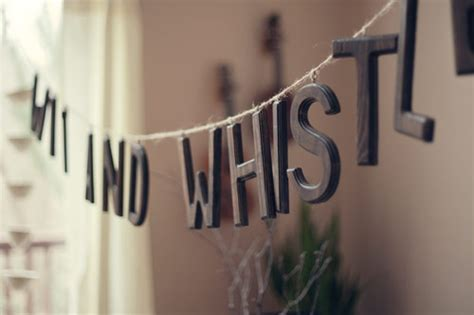diy wooden letter sign wit whistle