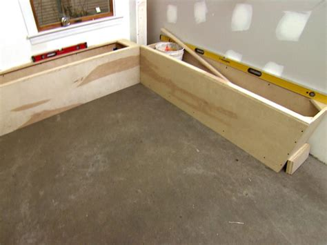 floor l with storage how to build banquette seating how tos diy