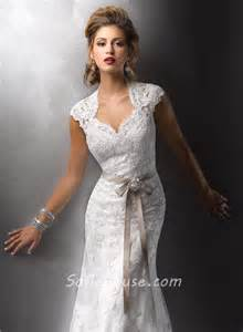 vintage lace wedding dresses with sleeves sheath cap sleeves vintage lace wedding dresses with open back buttons belt