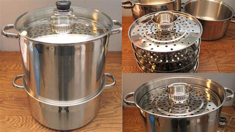 large steamer pot large 5 tier 18 quart uzbek 12 quot stainless steel food 3669