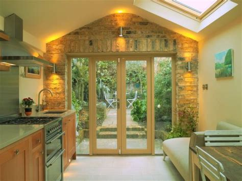 galley kitchen extension ideas galley style with patio door brick cottage