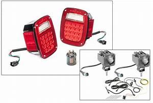 Quadratec Led Tail Light Kit  U0026 2 U0026quot  Cube Led With Wiring Harness For 91