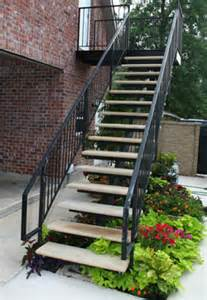 precast outdoor stairs modern patio outdoor
