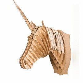 Trophée Animaux Carton : trophee licorne carton diy ~ Melissatoandfro.com Idées de Décoration