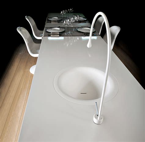 gessi kitchen faucets gessi goccia concept puts a kitchen faucet in your dining