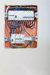 Electrical Panel Box With Fuses And Contactors Stock