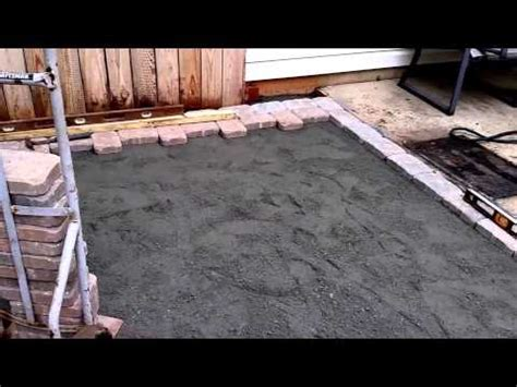 how to install a paver patio diy
