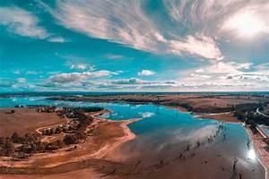 Beautiful, Skies, Over, Lake, Eppalock
