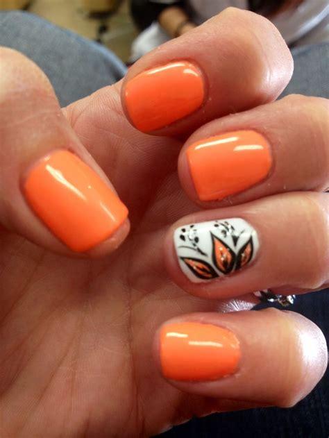 Best 25+ Orange Nail Art Ideas On Pinterest  Orange Nail