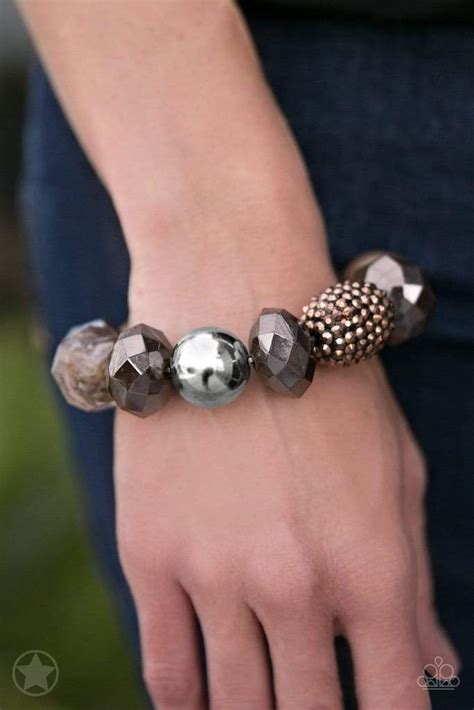 Paparazzi Accessories-All Cozied Up-Copper Bracelet