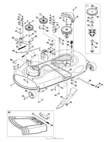 mtd 13al771t004 2010 parts diagram for mower deck 46 inch