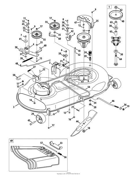 mtd alt  parts diagram  mower deck