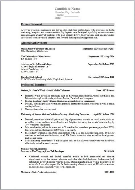 How Can I Write Cv Exles by How To Write A Cv For Conferences And Events