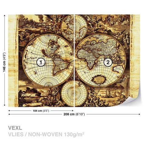 Photo De Carte Du Monde Vintage by Carte Du Monde Vintage Poster Mural Papier Peint