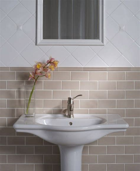 kitchen bath and tile beige subway tile bathroom traditional with ashbury beige 5115