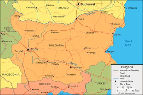 Bulgaria Map and Satellite Image