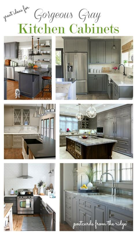 Kitchen Cabinets Decorating Ideas - great ideas for gray kitchen cabinets postcards from the ridge