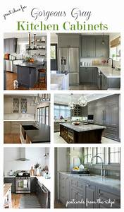 Great Ideas for Gray Kitchen Cabinets Postcards from the