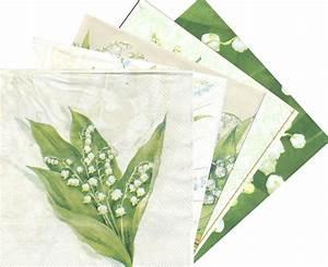 Fleur En Papier Serviette : serviette en papier fleurs muguet passioncreationcollection ~ Melissatoandfro.com Idées de Décoration
