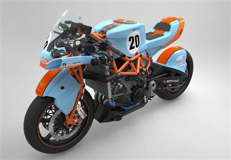 gulf racing motorcycle bott 1000 morlaco by bottpower render created to explore