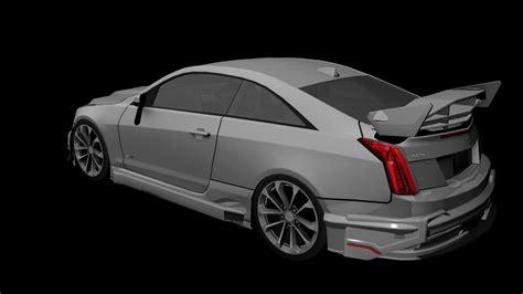 custom cadillac ats cadillac ats v coupe 2016 custom 3d model ready ma