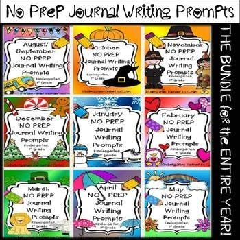 journal writing prompts  bundle   entire year