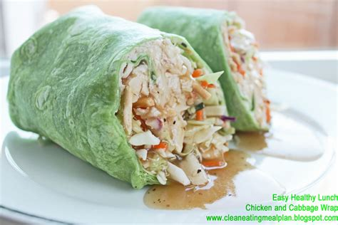 id馥s cuisine simple healthy lunch recipe chicken and cabbage wrap clean meal plan easy and cheap healthy meals weight loss meal plan