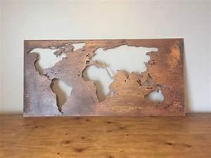 Carte Du Monde Metal : les 25 meilleures id es de la cat gorie carte du monde deco sur pinterest carte du monde ~ Teatrodelosmanantiales.com Idées de Décoration