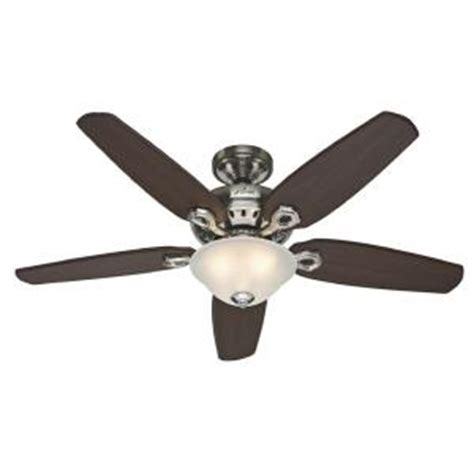home depot remote control ceiling fans hunter fairhaven 52 in brushed nickel ceiling fan with