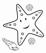 Coloring Fish Starfish Crafts Printable Craft Animals Mesmerizing Beauty Cliparts sketch template