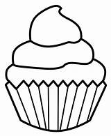 Clipart Cupcakes Cupcake Clip Outline Clipartmag sketch template
