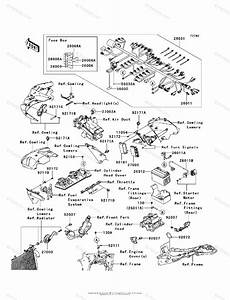 Kawasaki Motorcycle 2008 Oem Parts Diagram For Chassis