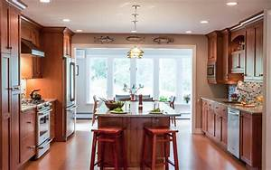 Warm and Cozy Kitchen with Open Plan Living Room