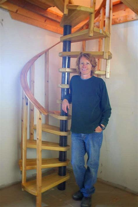 diy spiral stair plans tiny house stairs diy stairs