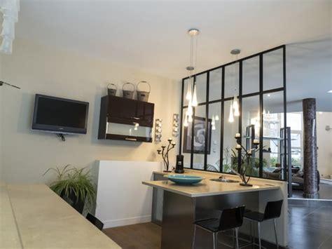 cuisine avec verri鑽e verriere separation cuisine salon maison design bahbe com