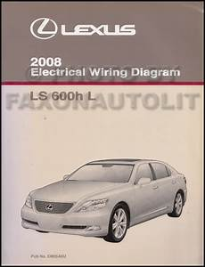 2008 Lexus Ls 600h L Wiring Diagram Manual Original