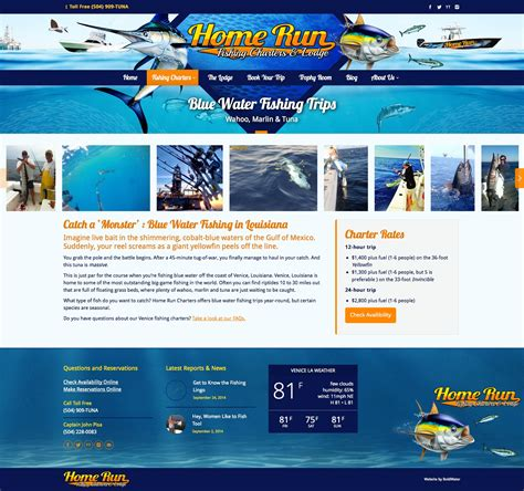 Website Marketing by Brand Website Marketing Design For Fishing Charter