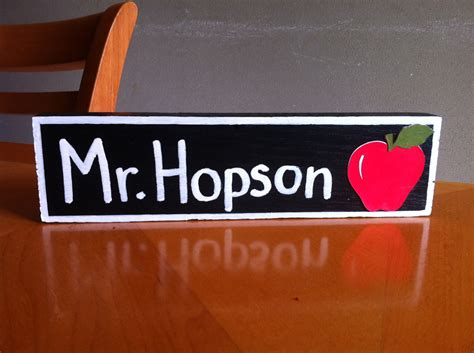 desk name plate designs great teacher gift personalized wooden name plate for