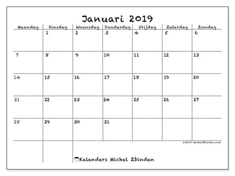 kalenders januari mz michel zbinden nl