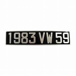 Plaque Immatriculation Voiture : plaque d 39 immatriculation auto aluminium noire 455 x 100 ~ Melissatoandfro.com Idées de Décoration
