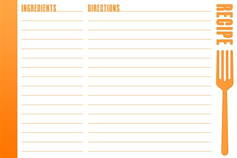 Recipe Template 9 Best Images Of Blank Printable Recipe Cards Blank