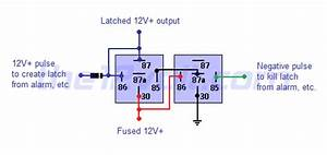 Latched On  Off Output Using Two Momentary Pulses  1 Positive  1 Negative