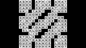 Crossword Puzzle  Wander Words Answers  August 15  2019
