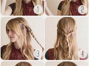 Coiffure Tresse Facile Cheveux Mi Long : coiffure natte cheveux long ~ Melissatoandfro.com Idées de Décoration