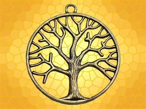 pendentif bronze arbre de vie rond bijou celtique symbole
