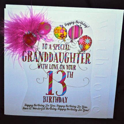 Happy 13th Birthday Granddaughter